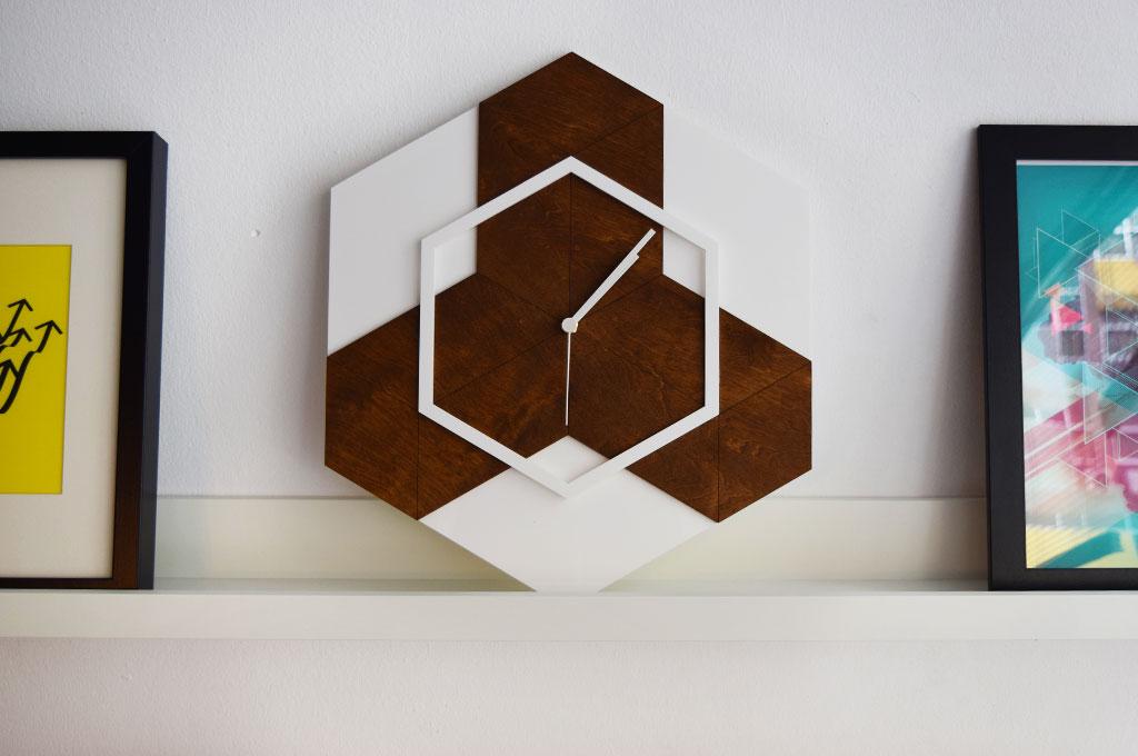 Hexagon Wall Clock