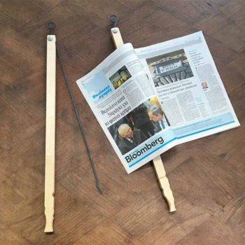 News Paper Holding Stick