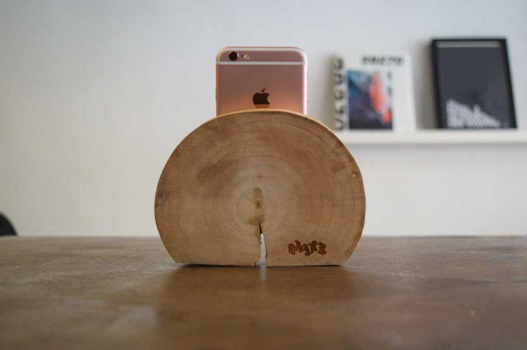 Wooden Phone Dock
